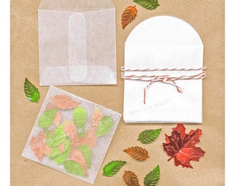 200 - Mini Glassine Envelopes 2-1/8 inch Square plus flap - Translucent Acid-Free - for seeds, confetti, stamps, coins & more