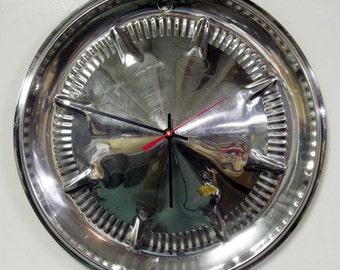 1960 Ford Fairlane and Galaxie Hubcap Wall Clock - Retro Classic Car Decor