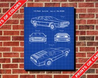 Car Patent Print, Classic Car Art, Home Decor, Car Enthusiast Gift