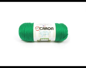 Caron Simply Soft Yarn, Kelly Green, 6oz