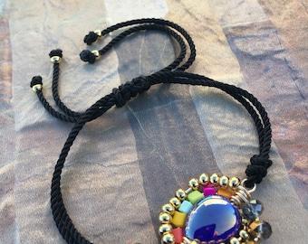 Wire beaded bracelet by PERMEJI