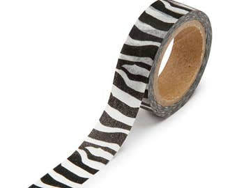 Washi Tape, Zebra Stripes, 5/8 Inches Wide and 312 Inches Long