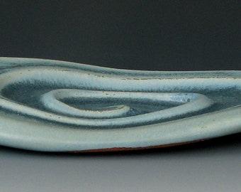 BLAUE Schale #6 - Keramik Seifenschale - Steinzeug Seife Seifenschale - Bar Seifenschale - Halter Seife - Seife Tablett - Seife - Badewanne - Bad