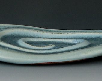 BLUE SOAP DISH #6 - Ceramic Soap Dish - Stoneware Soap Dish - Bar Soap Dish - Soap Holder - Soap Tray - Bar Soap - Bathtub - Bathroom
