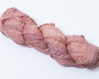 Recycled Sari silk ribbon - Earth