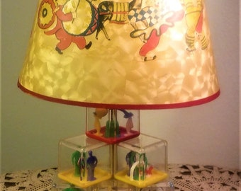 Vintge 1940's Child's Lamp with Paper Shade