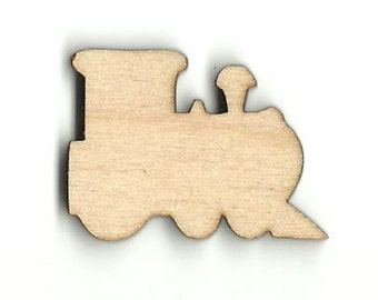 Train Steam Engine - Laser Cut Out Unfinished Wood Shape Craft Supply TRN17