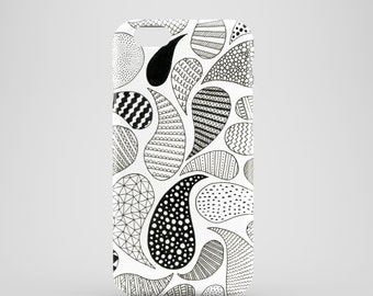 Paisley mobile phone case, iPhone X, iPhone 8, iPhone 7, 7 Plus, iPhone SE, iPhone 6/6S, iPhone 5, iPhone cover, illustrated phone case