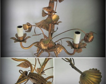 stunning tole French vintage chandelier