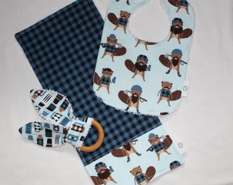 Blue Burly Beavers and Chenille Set