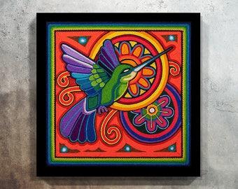 Mexican decor, Mexican Art, Mexican Print, Mexican Painting, Mexican Digital Art, Huichol Print, Mexican wall art, Digital Print,Huichol Art