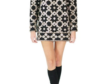 Found Vintage Adrianne Vittadini Sequin Tunic