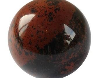 (Mahogany) 30mm mahogany Obsidian sphere