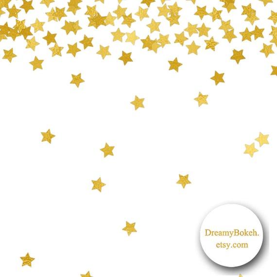 gold foil stars confetti digital paper frames borders 12x12 rh etsy com Free Clip Art Pink and Gold Confetti Gold Confetti Streamers