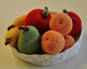 Instant Download - PDF Crochet Pattern - Fruit Bowl