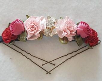 Lulu's Favorite Ballet Bun Pin, Bunflowers, Bunpin,Bunholder, Bunwrap, Floral Wreath, Lulusballetwraps , Floral Garland