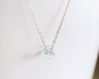 kerry in powder blue - glass bead necklace by elephantine