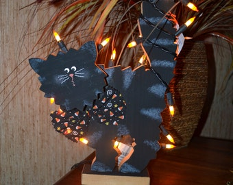 Halloween Light UP Boo Cat