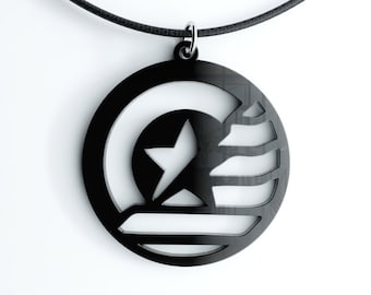 STUCKY Captain America Winter Soldier inspired Pendant Necklace, Key Chain or Earrings