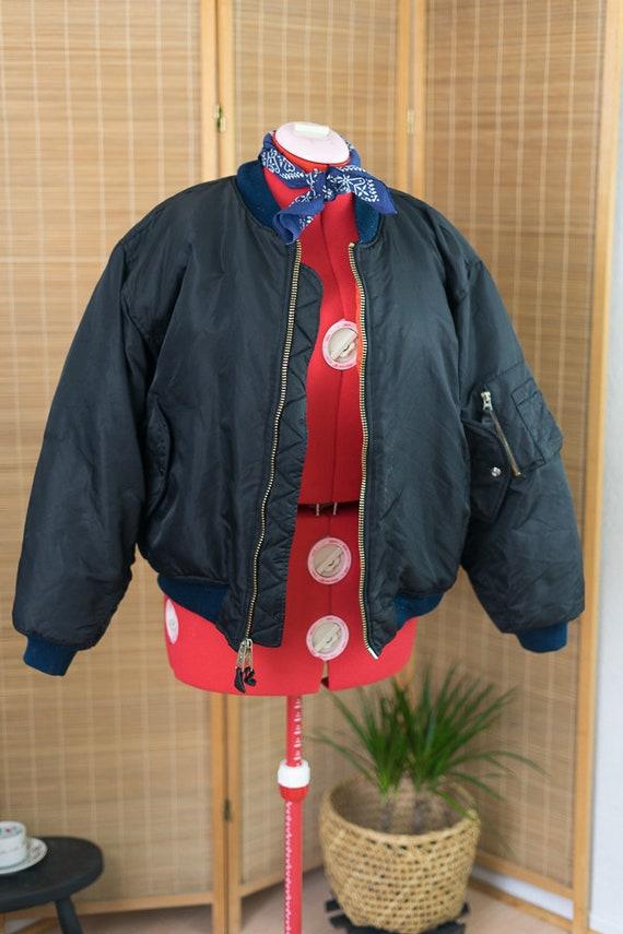 Bomber 1990's Jacket MA 1 Flight pEgTS