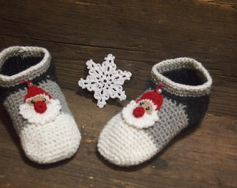 Baby Crochet Slippers, Warm Gift, Made To Order