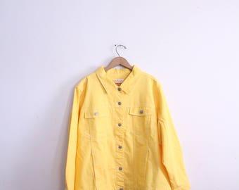 Bold Yellow 90s Denim Jacket