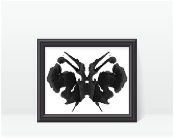Rorschach Ink Blot Art print no 27