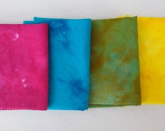 Hand Dyed Fat Quarters - Hand Dyed Fabric - Dyed Kona Cotton