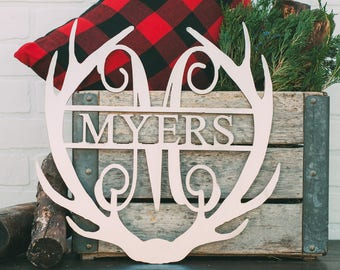 """16"""" Antler Monogram with Name or Word"""