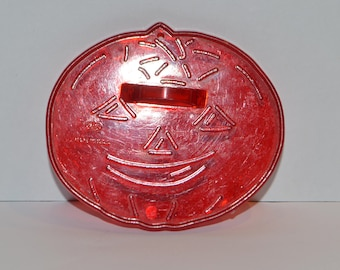 Jack-O-Lantern HRM Red Plastic Cookie Cutter