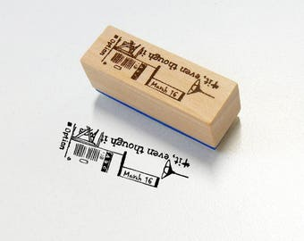 New Chamil Garden x Litte Path wooden Stamp B Walking /wa09 XM-ST-WA9