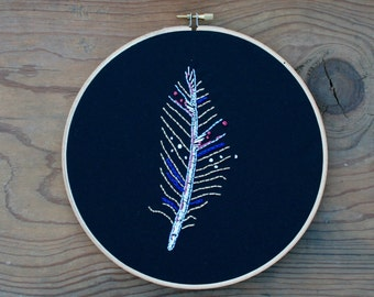 Feather Embroidery Hoop (8-inch diameter)