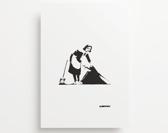 Banksy Cleaning Lady Giclée Print