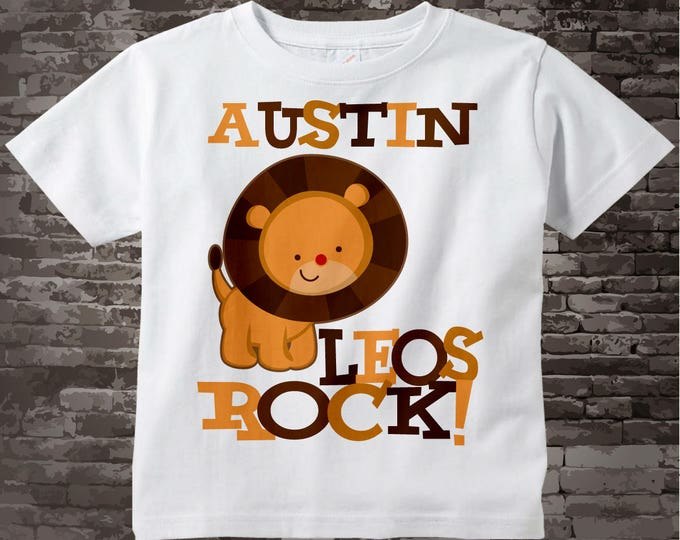 Leo Lion Shirt or Onesie, Leos Rock Lion July or August Birthday Baby Tee Shirt or Onesie 08022011a