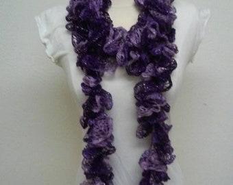 Purple Fluffy Scarf