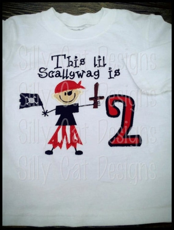 Pirate Birthday Applique Machine Embroidery Design