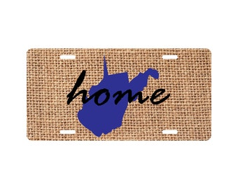 Home West Virginia License Plate Funny State Novelty Tag