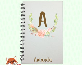 Journal, Initials, Monogram Journal, Monogram Notebook, Personalized Journal, Personalized Notebook, Notebook, Sketchbook, Bridesmaid Gift