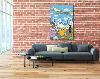 Finn and Jake canvas, Adventure Time print, Adventure Time, Finn and Jake, Adventure Time canvas, Finn and Jake print, Adventure Time Art