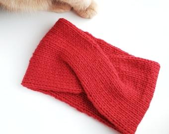 Knitted headband Headband Knit Double headband Wool headband Turban headband Women headband Knitting pattern Ear warmer headband