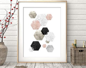 Digital Print, Printable Wall Art, Abstract Art, Geometric Print, Abstract Print, Scandinavian Art, Modern Decor, Scandinavian Print, Art