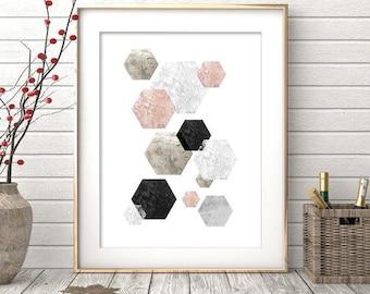 Digital Print, Printable Wall Art, Abstract Art, Geometric Print, Abstract Print, Scandinavian Art, Modern Decor, Scandinavian Print, Art