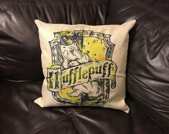 Harry Potter Hufflepuff House Inspired 18x18 inch Pillow