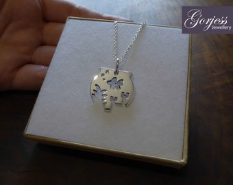 Silver Fish Bowl Pendant Necklace