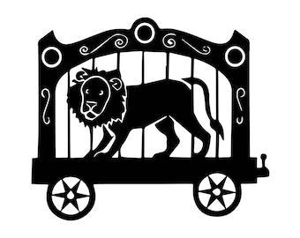 Lion Circus Star Animal Fun Performance Wildlife Humor Show .SVG .EPS .PNG Vector Space Clipart Digital Download Circuit Cut Cutting
