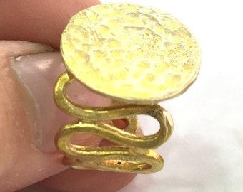 Raw Brass Adjustable Ring Blank (20mm Blank)  G3921