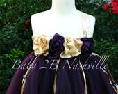 Flower Girl Dress in Plum...