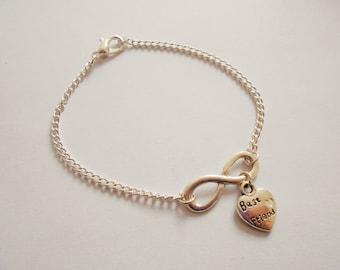best friend infinity bracelet - infinity bracelet - - best friend bracelet -  silver infinity bracelet - gift friend - friendship bracelet