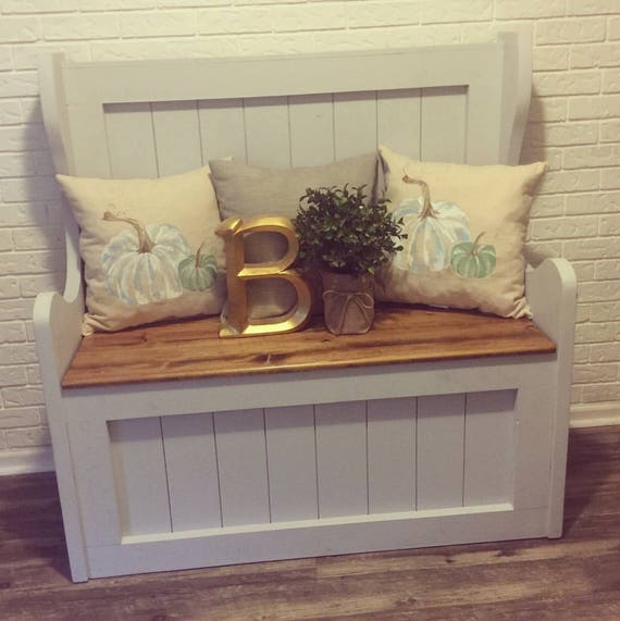 Farmhouse Storage Bench