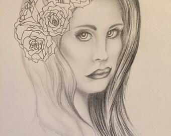 Lana Del Rey drawing art print